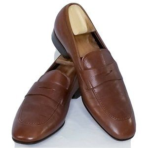 Ferragamo Penny Loafer 9 D Mens Dark Brown Leather